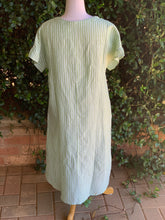 Load image into Gallery viewer, Greta Green Linen Dress