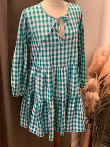 Emerald Green Joan Gingham Dress
