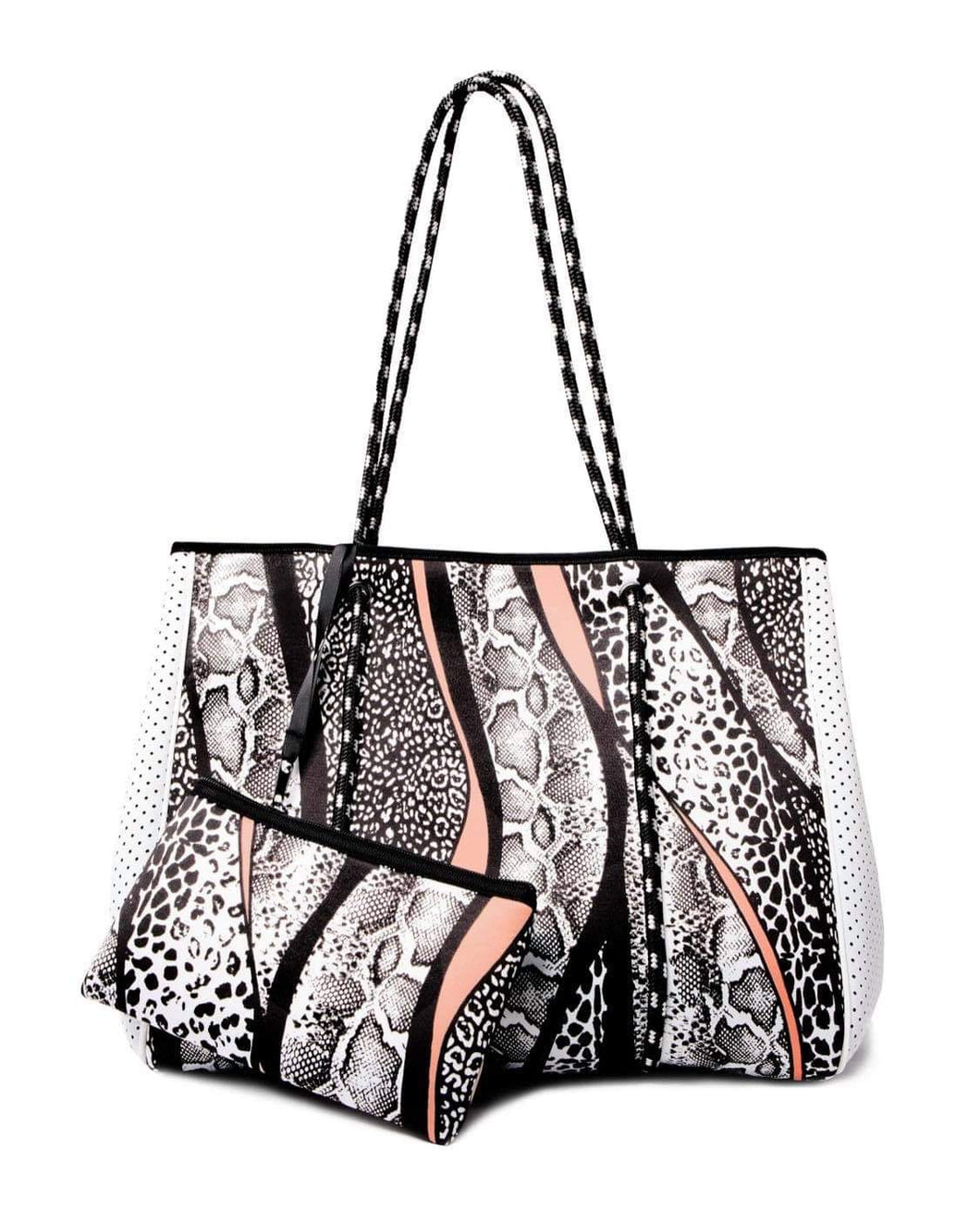 Neoprene Animal Print Tote Bag
