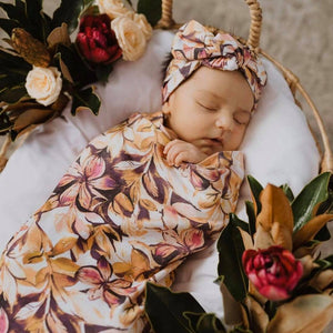 Snuggle Swaddle & Topknot Set