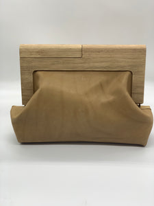 Moy Tan Leather Clutch