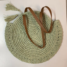 Load image into Gallery viewer, Round Raffia Shoulder Bag