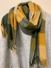 Load image into Gallery viewer, Wool Mix Plaid Scarf/Shawl