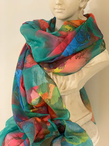 Water coloured scarf