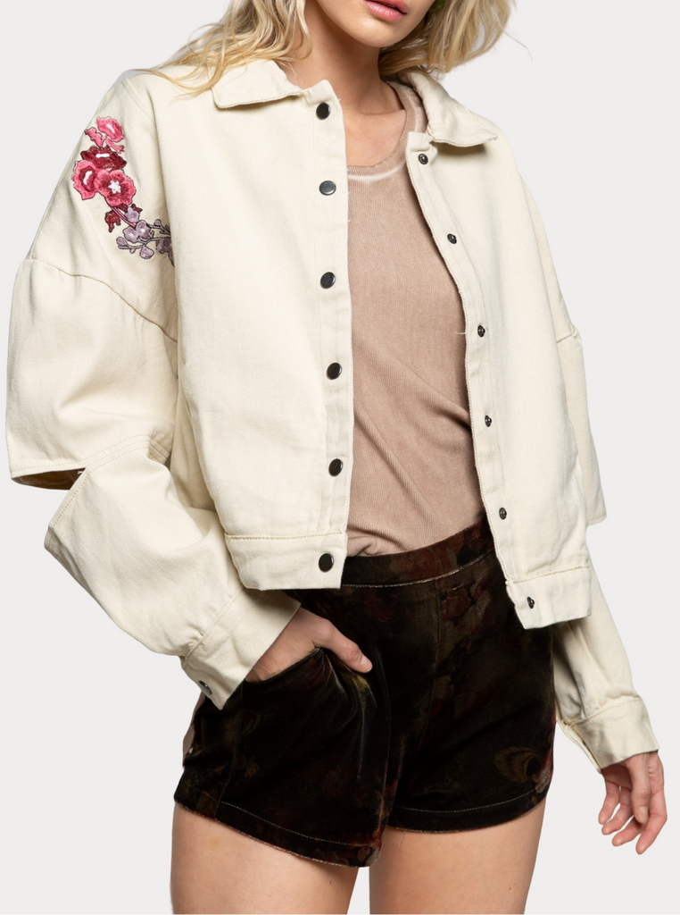 Vivie Embroidered Jacket - La Lune Boutique