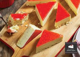Cheese Cake Tray Strawberry Priestley Gourmet Deserts 3.2kg
