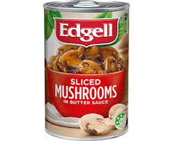 MUSHROOM in Butter Sauce Tin Edgell 410gm