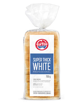 BREAD Thick White Sliced TIPTOP 6x700gm