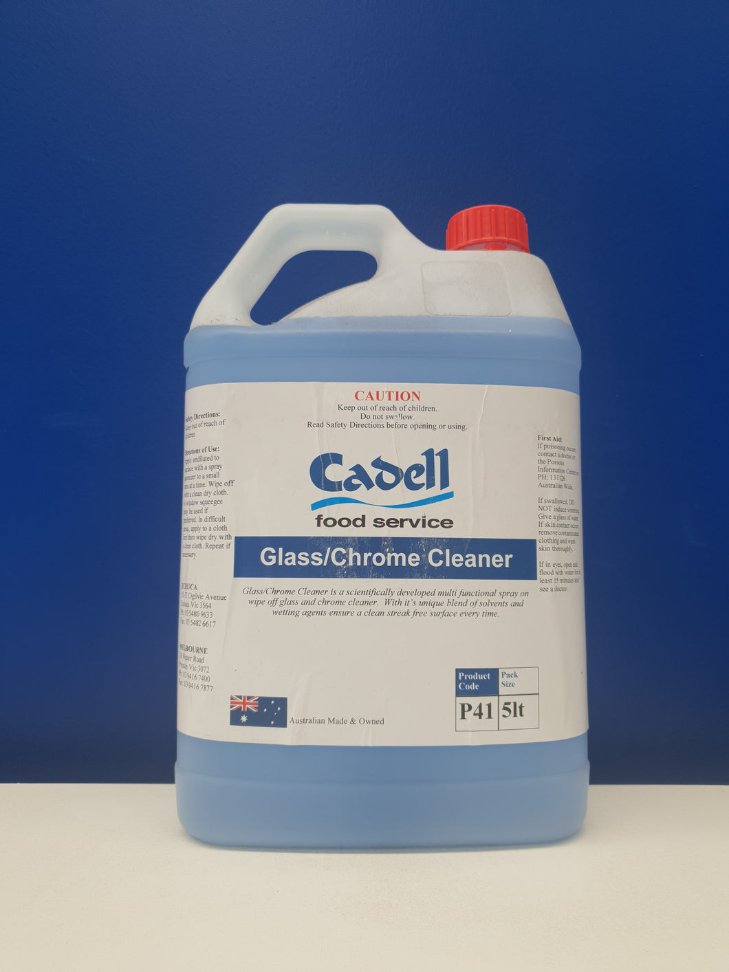 GLASS/CHROME CLEANER Cadell 5lt