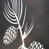 Decorative Metal Wall Art Pine Cones
