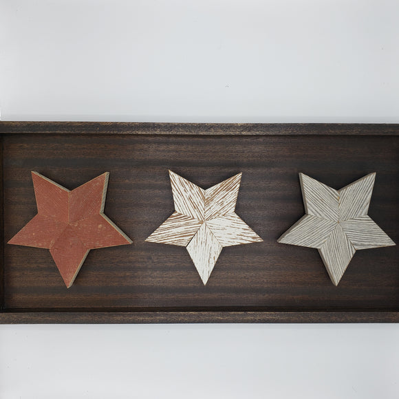 Legacy Wood Art 3 Star Mahogany Frame