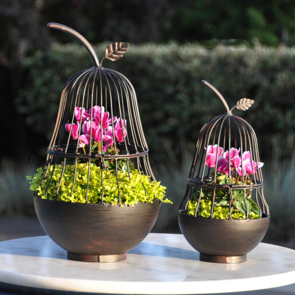 Decorative Pear Planter Set