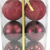 Burgundy Ball Ornament 6pc
