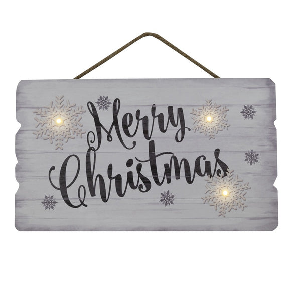Wooden LED Merry Christmas Sign