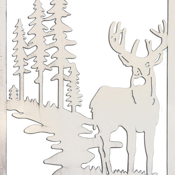 Decorative Metal Wall Art Winter Forest