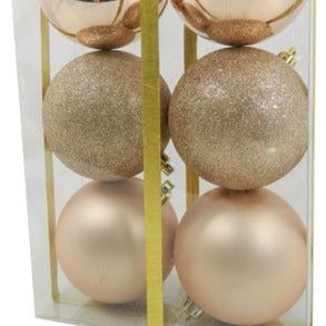 Rose Gold 6pc Ball Ornament