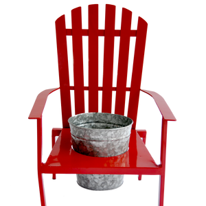 "Muskoka Chair with 8"" Zinc Pot"