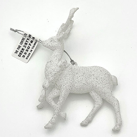 Frosted Deer Ornament