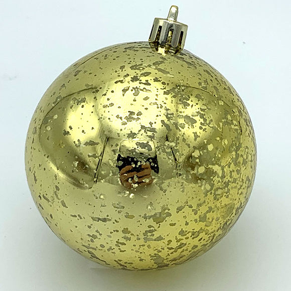 Ball Ornament Gold Mercury Finish 6 pc