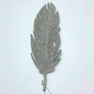 Metal Birch Feather Ornament