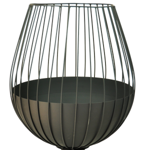 Metal Wine Glass Fire Pit Planter