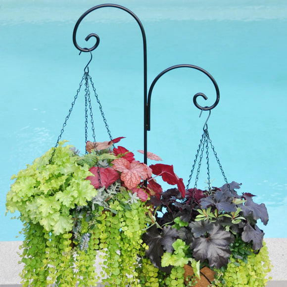 Scroll Double Patio Shepherd Hook