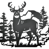 Deer Metal Wall Art
