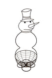 "Snowman Planter w/ 12"" Basket"