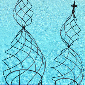 Hour Glass Swirl Obelisk (Set of 2)