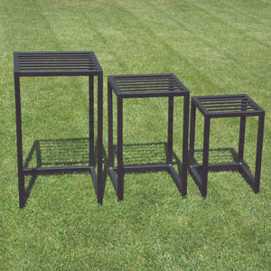 Nested Square Plant Stands 3pc Set