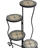 Foldable Mosaic Plant Stand