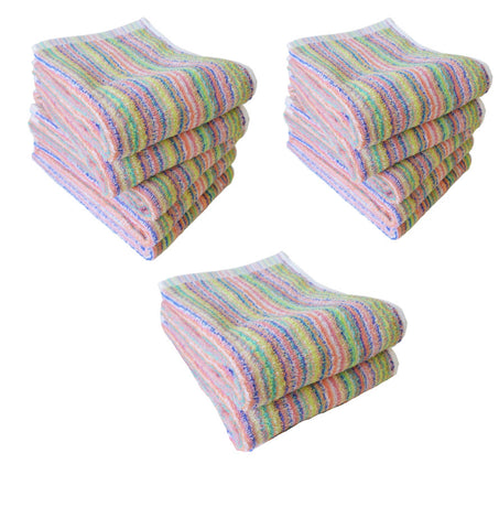 12Pcs Rainbow Hand Towel