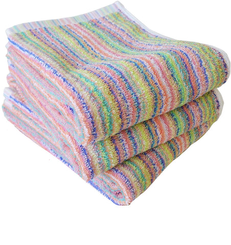 3 Pcs's Rainbow Bath Towel