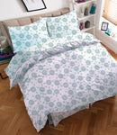 KING BED SHEET WITH COMFORTER SET