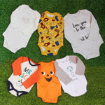 6 Pcs Pack Full Sleeves Baby Romper Bodysuit Unisex Pure Cotton High Quality