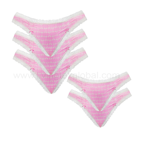 5 Pcs Ladies Underwear Thong