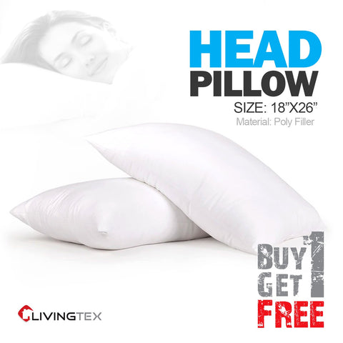 HEAD PILLOW 18″X 26″ (BUY 1 GET 1)