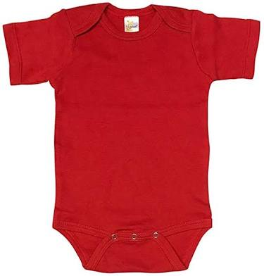Single Pc's RED BABY ROMPER BODYSUIT UNISEX PURE COTTON HIGH QUALITY