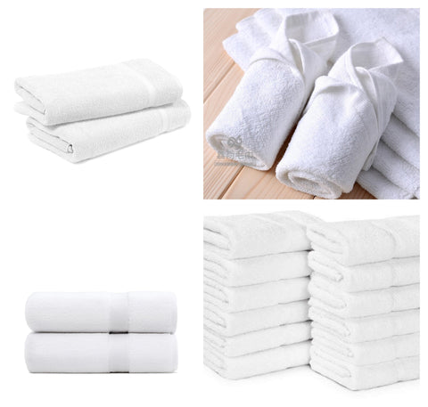 12 Pc's White Towel Set