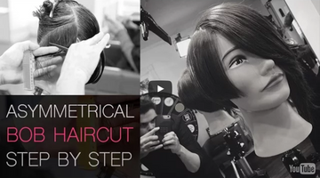 Asymmetrical Bob Haircut Step by Step With Dry Cutting Techniques