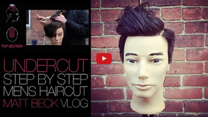 Undercut Mens Haircut with a Hard Part