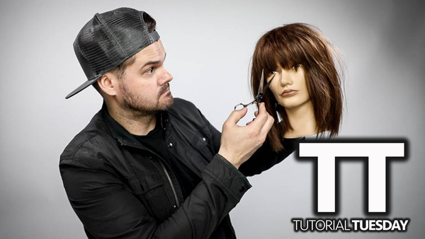 My New Favorite Way To Cut Textured Bangs (Curtain Bangs) | Tutorial Tuesday