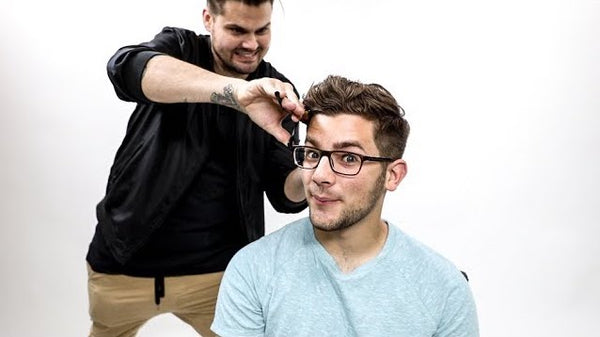 Textured Mens Haircut Tutorial for Thick Wavy Hair | MATT BECK VLOG 110