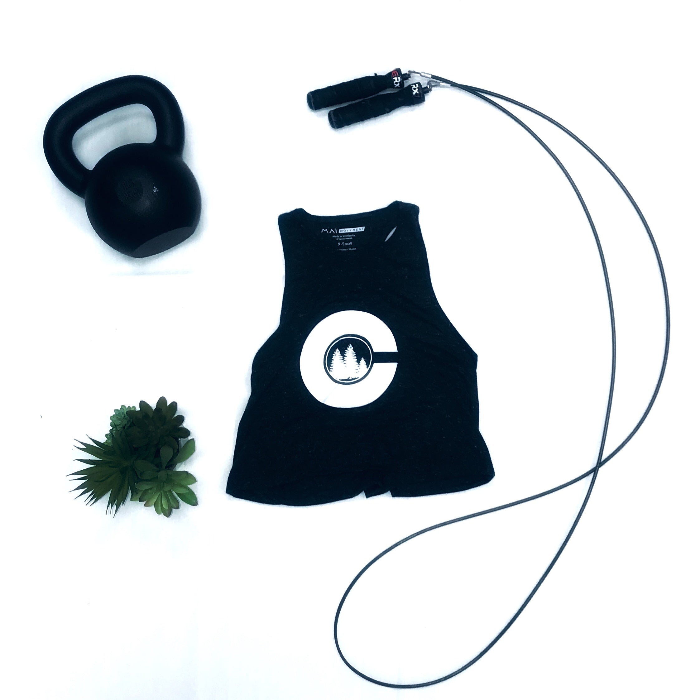The Center Athletic Crop Tank (Charcoal)