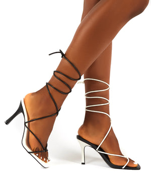 Stance Mono Lace Up Square Toe Heels