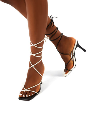 Stance Mono Wide Fit Lace Up Square Toe Heels