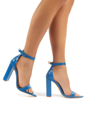 Miao Blue Snake Barely There High Heels