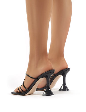 Evie Black Strappy Statement High Heels