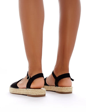 Mendes Espadrille Sandals in Black