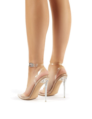 Wavey Clear Perspex Pointed Toe